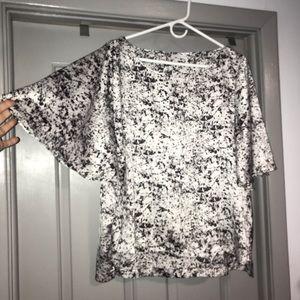 Wide Sleeve Black/White XL Dressy Top. MUST BUNDLE